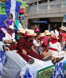 Kids in Mayan Costumes