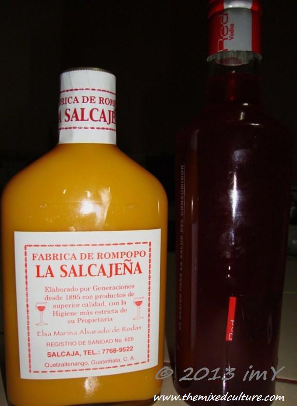 Rompopo and Caldo de frutas: Salcajá , Quetzaltenango, Guatemala