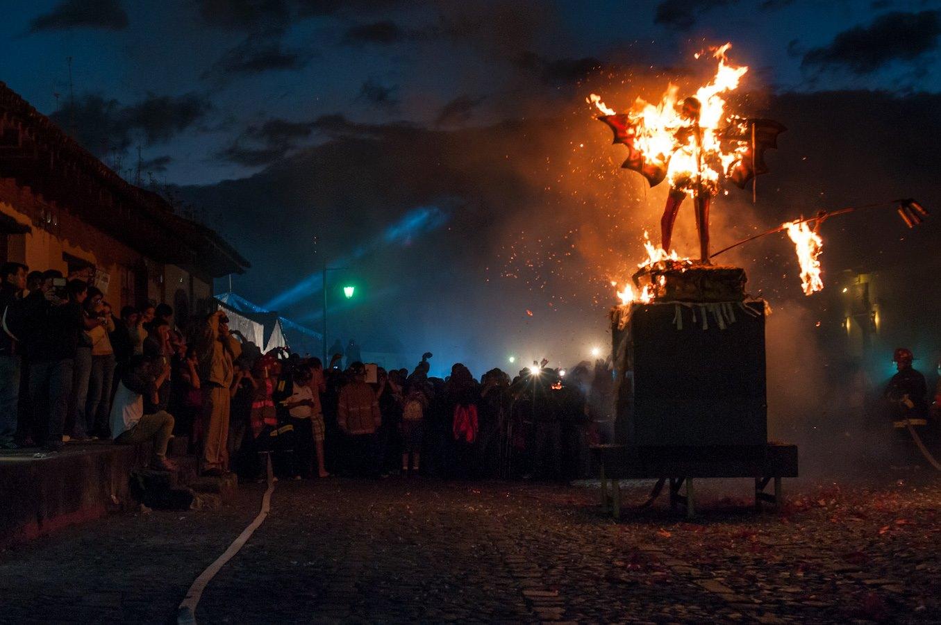Burning the devil