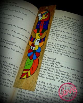 Handpainted bookmark